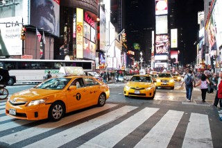 New York City cab image via Shutterstock