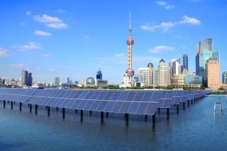 Shanghai solar panels (image via Shutterstock)