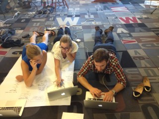 """VfA Fellows brainstorm during a pre-deployment """"boot camp"""" in Providence"""