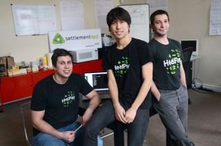 From left, HealPay's Erick Bzovi, Lance Carlson, and Hakki Tomanbay