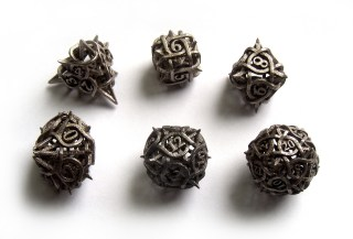 Thorn Dice designed by Made by Wombat, 3D Printed by Shapeways.