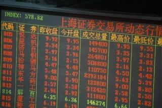 Shanghai Stock Exchange image via Shutterstock
