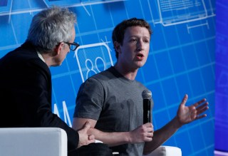 Kirkpatrick interviewed Mark Zuckerberg at the 2014 Mobile World Congress, and will do so again at Techonomy 2016, Nov. 9-11. (photo courtesy Mobile World Congress)