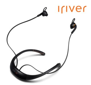 The iriverON headset monitors heart rate through the ears.