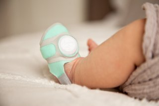 The Owlet Smart Sock transmits your baby's vitals to your smartphone via Bluetooth.