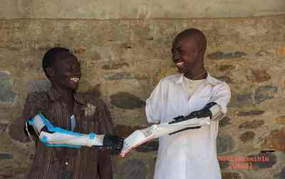 A collaboration between Intel and Not Impossible Labs has brought 3-D printed prosthetics to war-torn South Sudan. (Image: Not Impossible Labs)