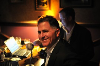 Michael Dell is a happy guy, even though he may have to report a few more numbers.