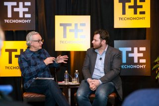 Techonomy's David Kirkpatrick interviewing Sean Parker at last year's Techonomy 2015.