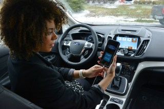 Soon you'll be able to talk to your Ford car with questions similar to what you'd ask a person, thanks to a new alliance with Amazon and its Echo voice interface system. (Photo courtesy Ford)