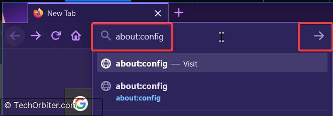 Type about:config in the Firefox address bar and hit Enter
