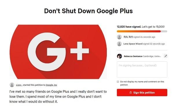 Google-Plus-petition