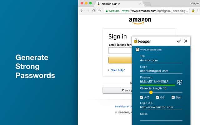 Keeper - - Best Password Manager Chrome extension for Windows 10