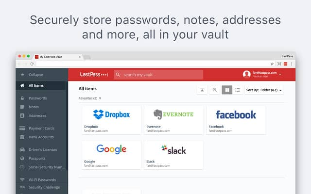LastPass - Best Password Manager Chrome extension for Windows 10