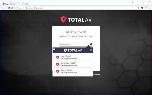 Total AV - Best Password Manager Chrome extension for Windows 10