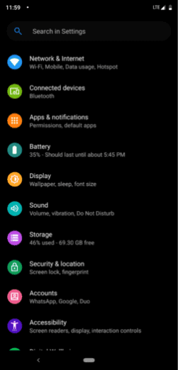 Android Setting - Techorhow
