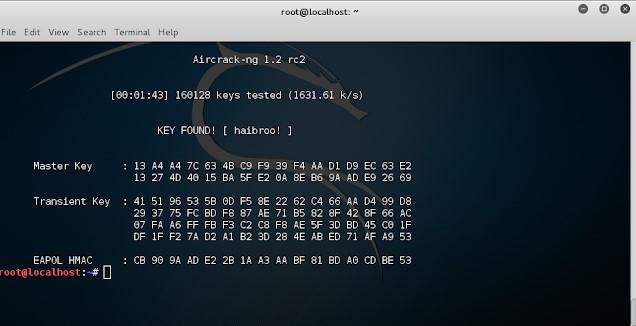 Cracking wifi password using aircrcak-ng