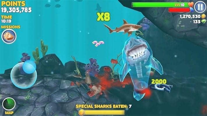 Hungry Shark Evolution Gameplay