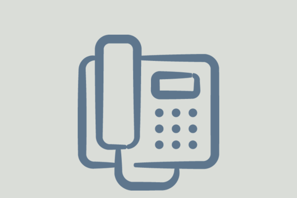 icon of landline desk phone