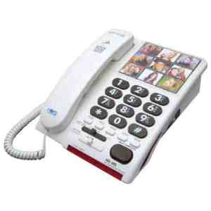 phone with amplification, quick call photos and big buttons