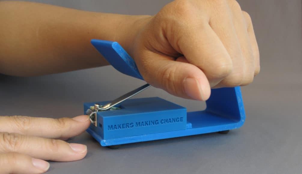 a 3d printed nail clipper
