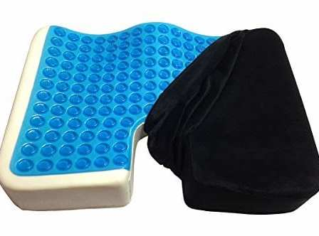 Seat cushion is half uncovered to show the gel cell interior.