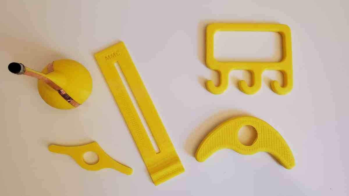 An image of many 3D printed devices