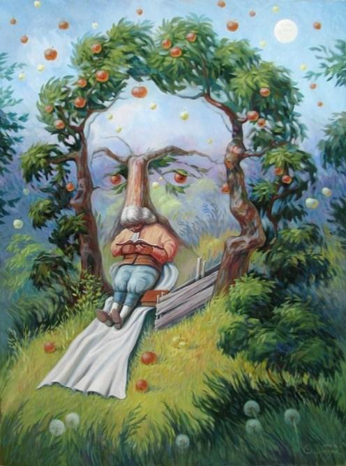 在蘋果樹下的牛頓