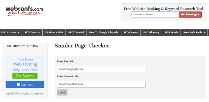 Similar Page Checker