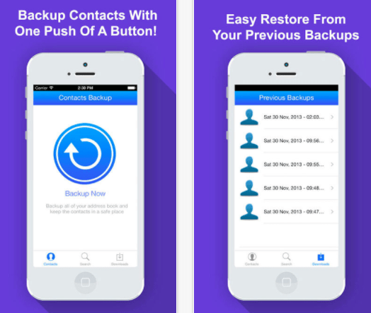 Addressbook Contacts Backup & Install One Touch
