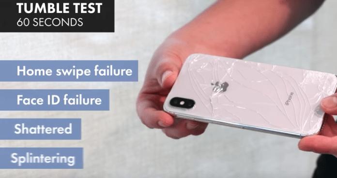iPhoneX 防摔測試