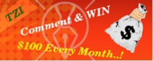 Win 100 dollars each month by commenting