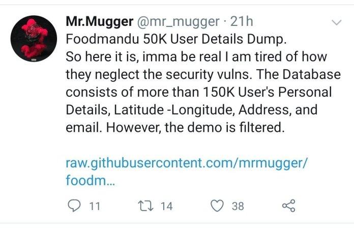 Foodmandu Hacked