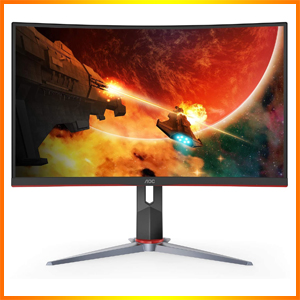 """AOC C32G2 32"""" Curved Frameless 165Hz Gaming FHD Monitor"""