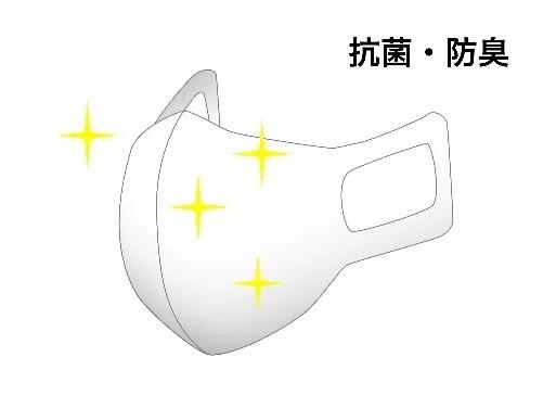 OJICOの夏マスク 抗菌・防臭加工で清潔