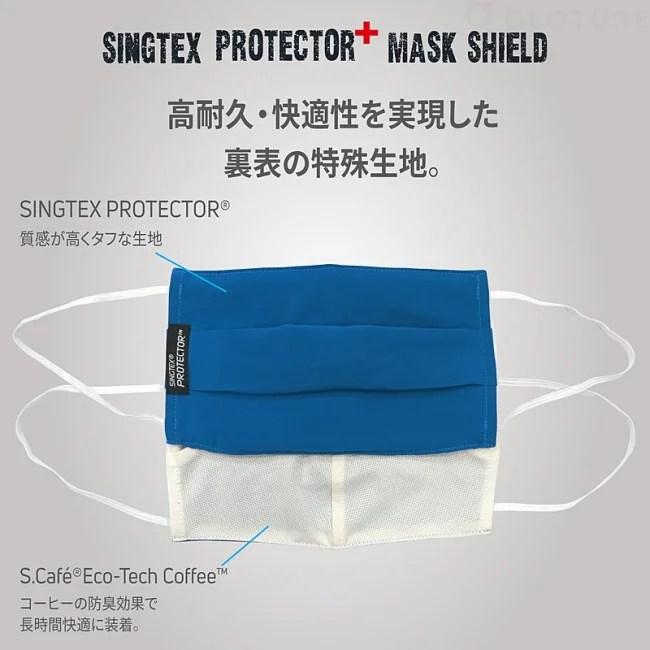 内側のマスクを徹底的に保護