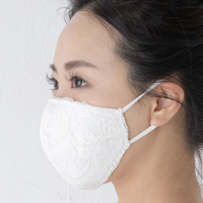 下着メーカー三恵、小顔に見える美マスク