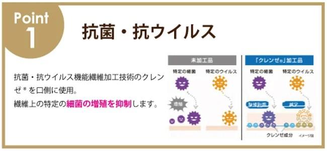 ヴィリーナジャパン、抗菌・抗ウイルスのクレンゼ®︎ シアバターマスク