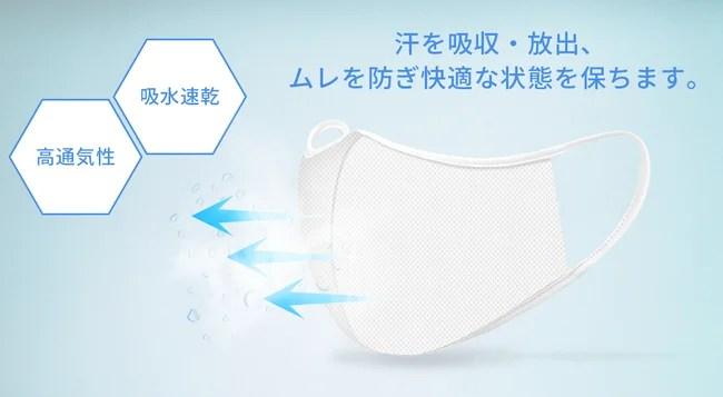日本製、エア抗菌マスク