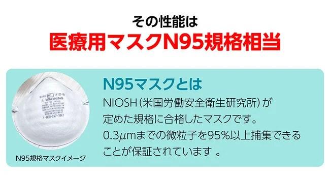 トライス、ナノAG+AIRマスク
