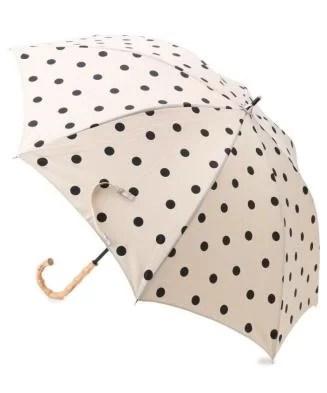 SHOO・LA・RUE(シューラルー) DRESKIP/because(ビコーズ)晴雨兼用 バンブーハンドルドット傘