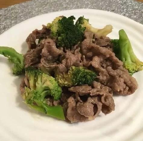 牛肉とブロッコリーのウスターソース炒め