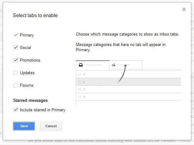 New Gmail Inbox Tabs