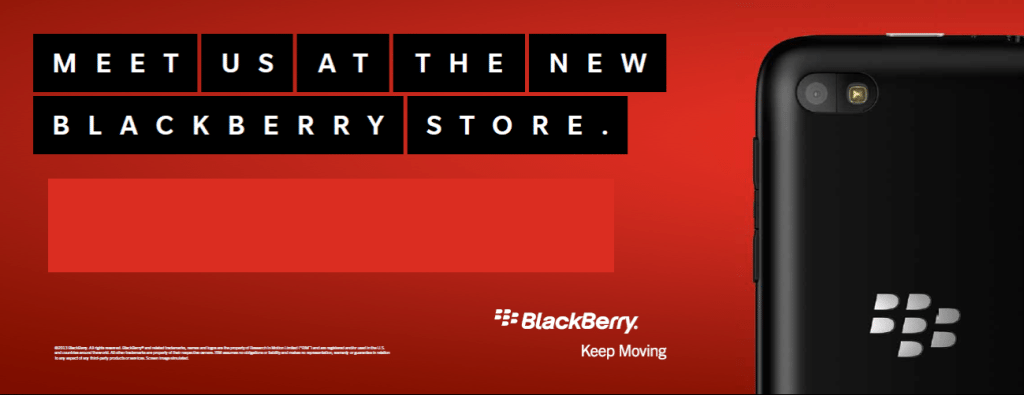 BlackBerry Store launch