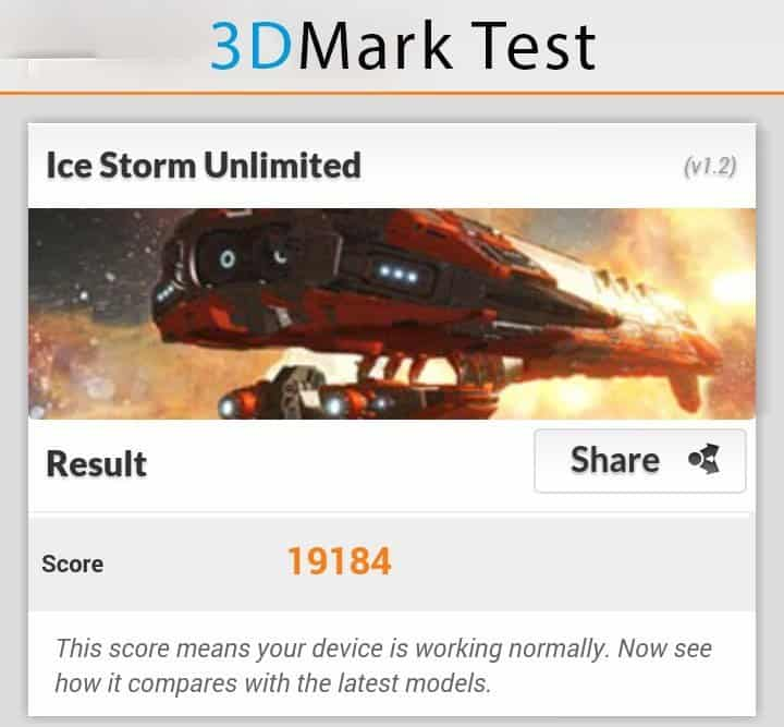 Sony Xperia Z1 compact 3D Mark test