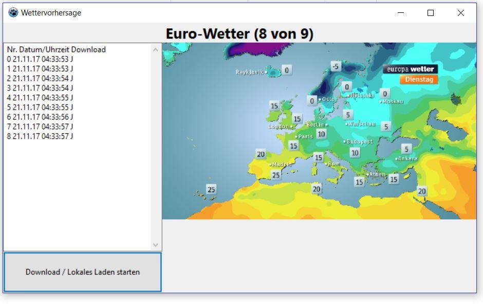Beispiel Projekt für die Wetter-Unit