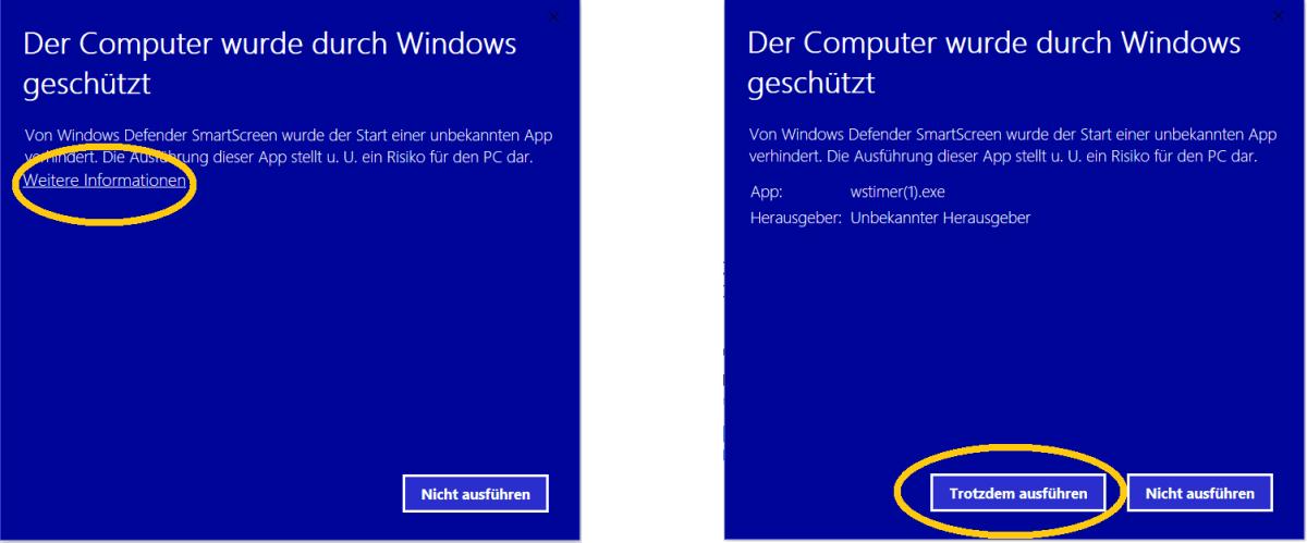 Windows Warnung bei ausführbaren Dateien