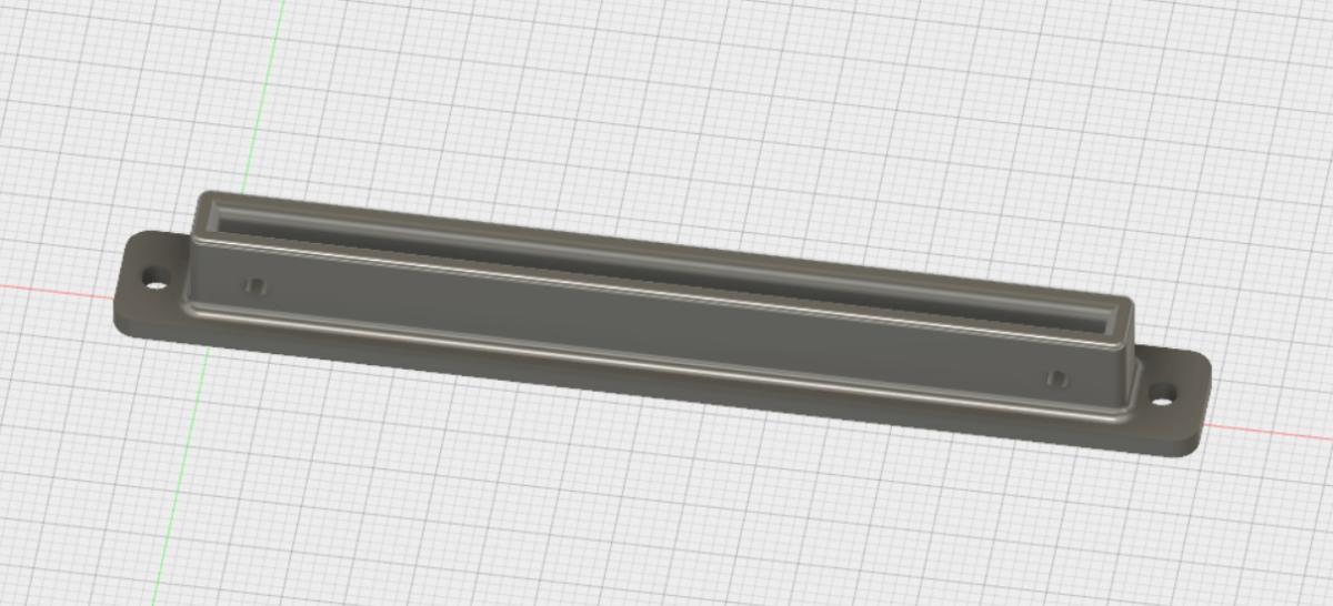 Bild eines 3D-Modells einer Platinenhalterung