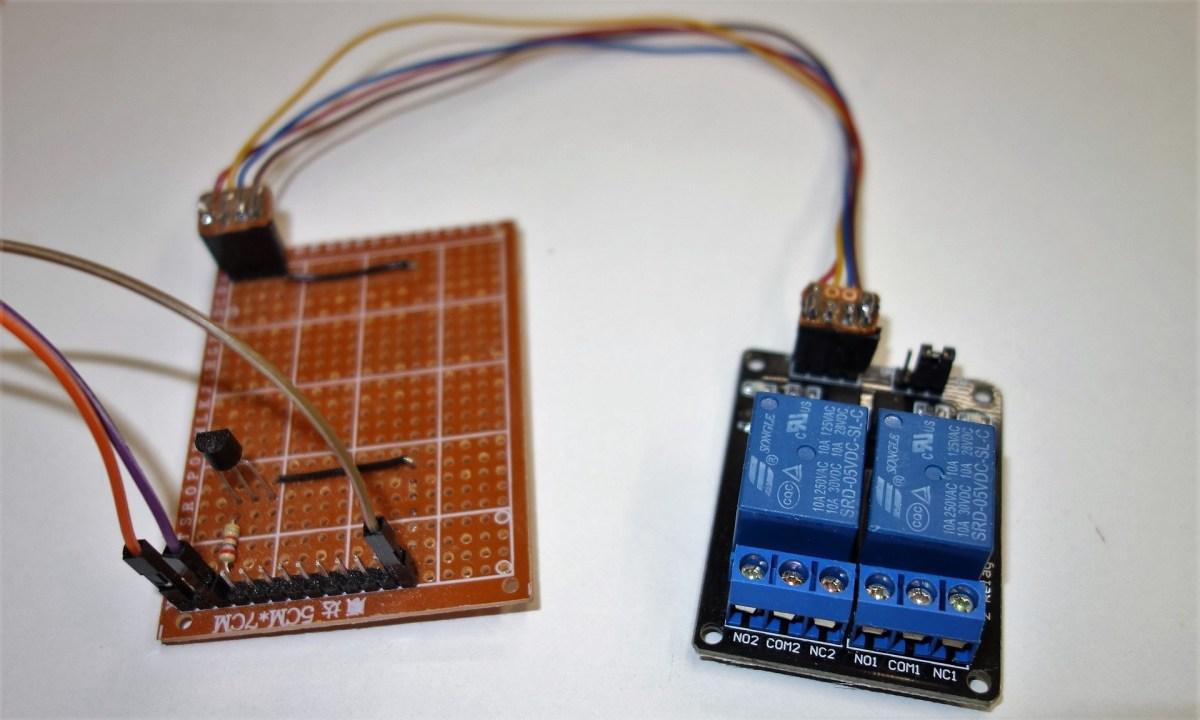 Beispiel für die Ansteuerung einer Relaiskarte über einen Transistor