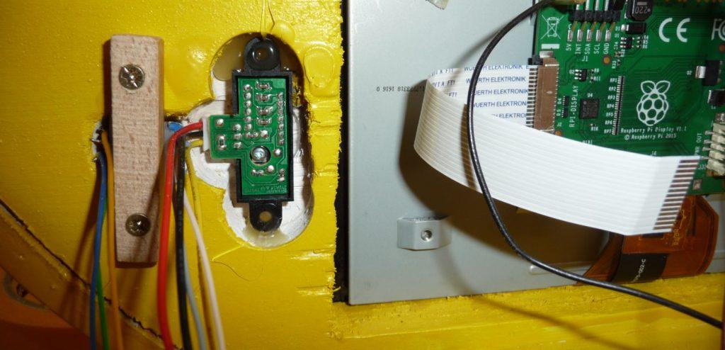 Einbau von Dreh-Encoder und Infrarotsensor