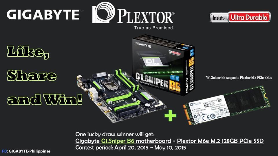 GIGABYTE Plextor PH Giveaway 2015